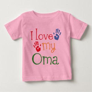 I Liebe mein Oma Geschenk Handprints Baby T-shirt