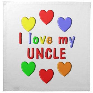 I Liebe mein Onkel Stoffserviette