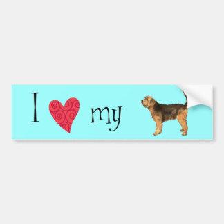 I Liebe mein Otterhound Autoaufkleber