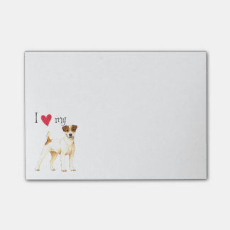 I Liebe mein Pastor-Russell-Terrier Post-it Klebezettel