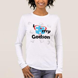 I Liebe mein Patensohn - Autismus Langarm T-Shirt