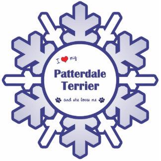 I Liebe mein Patterdale Terrier (weiblicher Hund) Fotoskulptur Ornament