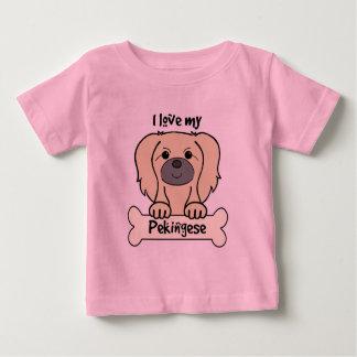 I Liebe mein Pekingese Baby T-shirt