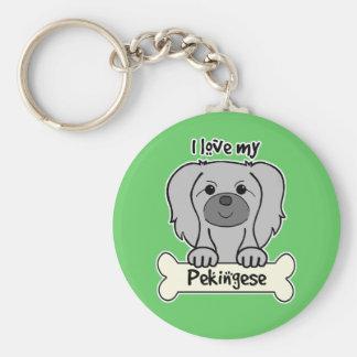 I Liebe mein Pekingese Schlüsselanhänger