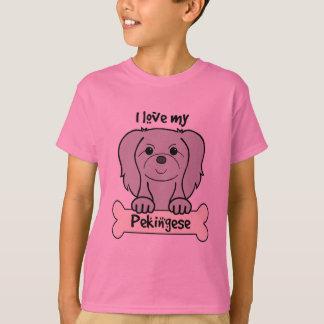 I Liebe mein Pekingese T-Shirt