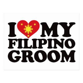 I Liebe mein philippinischer Bräutigam Postkarte