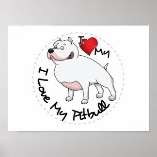 I Liebe mein Pitbull Hund Poster