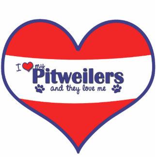 I Liebe mein Pitweilers (mehrfache Hunde) Acrylausschnitte