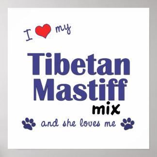 I Liebe mein Plakat der tibetanischer Mastiff-Misc