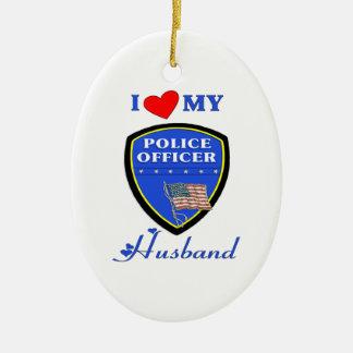 I Liebe mein Polizei-Ehemann Keramik Ornament