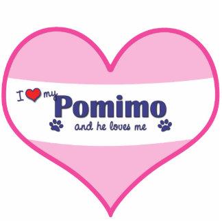 I Liebe mein Pomimo (männlicher Hund) Foto Skulpturen