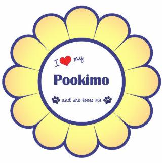 I Liebe mein Pookimo (weiblicher Hund) Photo Skulptur