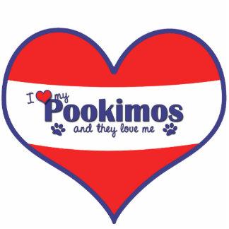 I Liebe mein Pookimos (mehrfache Hunde) Fotoskulptur Ornament