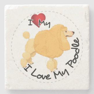 I Liebe mein Pudel-Hund Steinuntersetzer