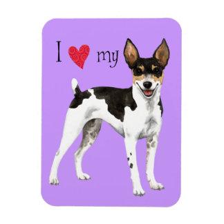 I Liebe mein Ratten-Terrier Magnet