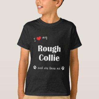 I Liebe mein rauer Collie (weiblicher Hund) T-Shirt
