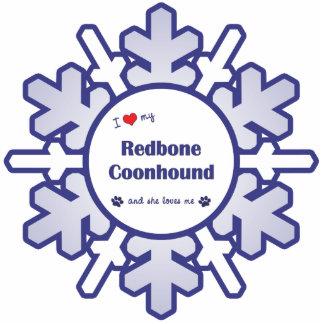 I Liebe mein Redbone Coonhound (weiblicher Hund) Fotoausschnitt