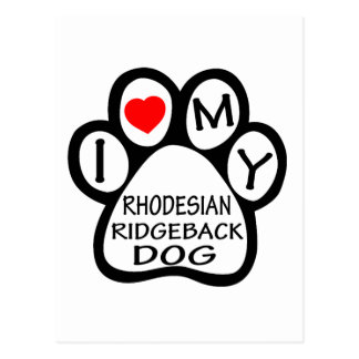 I Liebe mein Rhodesian Ridgeback Hund Postkarte