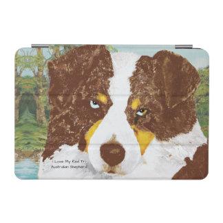 I Liebe mein roter Tri australischer Schäfer-Hund iPad Mini Hülle