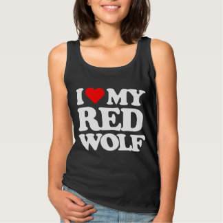 I LIEBE MEIN ROTER WOLF TANK TOP