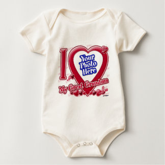 I Liebe mein rotes Herz der großen Großmutter - Baby Strampler