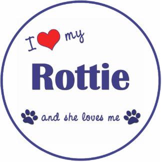 I Liebe mein Rottie (weiblicher Hund) Fotoskulptur Ornament