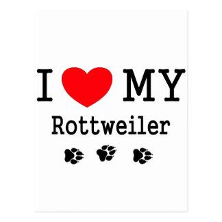 I Liebe mein Rottweiler Postkarte