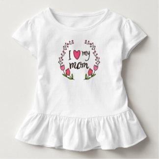 I Liebe mein Rüsche-T-Stück der Mamma-Mutter des Kleinkind T-shirt