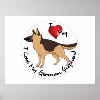 I Liebe mein Schäferhund-Hund Poster