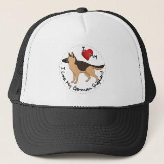I Liebe mein Schäferhund-Hund Truckerkappe