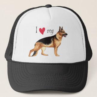 I Liebe mein Schäferhund Truckerkappe