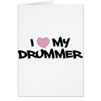 I Liebe mein Schlagzeuger Karte