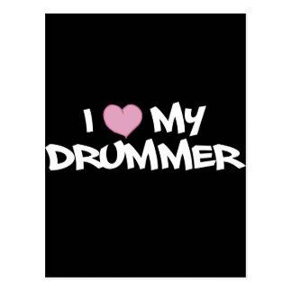 I Liebe mein Schlagzeuger Postkarte