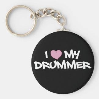 I Liebe mein Schlagzeuger Standard Runder Schlüsselanhänger