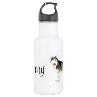 I Liebe mein Schlittenhund Trinkflasche