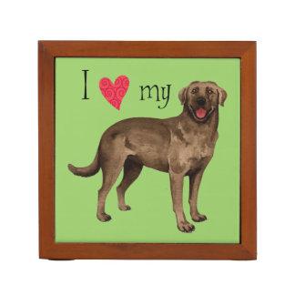 I Liebe mein Schokoladen-Labrador Stifthalter