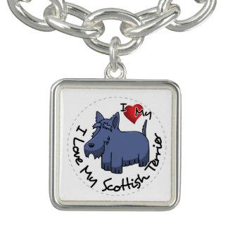 I Liebe mein schottischer Terrier-Hund Armbänder