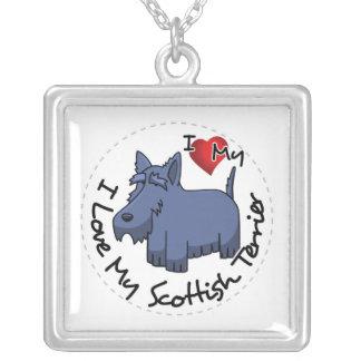 I Liebe mein schottischer Terrier-Hund Versilberte Kette