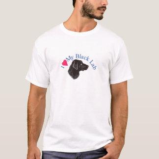 I Liebe mein schwarzer Labrador T-Shirt
