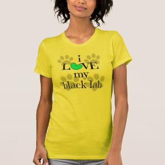 I LIEBE mein schwarzer Labrador, Tatzendrucke u. T-Shirt