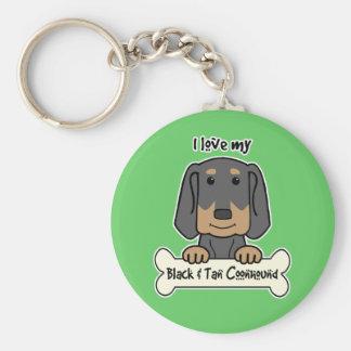 I Liebe mein Schwarzes und TANCoonhound Schlüsselanhänger