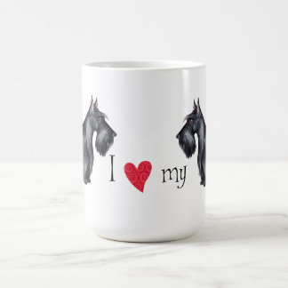 I Liebe mein Scottie Kaffeetasse