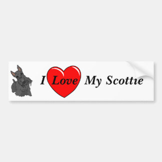 I Liebe mein ScottieBumper Aufkleber Autoaufkleber