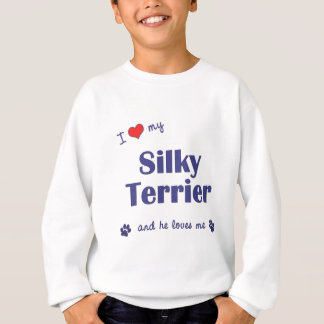 I Liebe mein seidiger Terrier (männlicher Hund) Sweatshirt