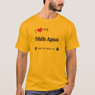 I Liebe mein Shih Apso (männlicher Hund) T-Shirt