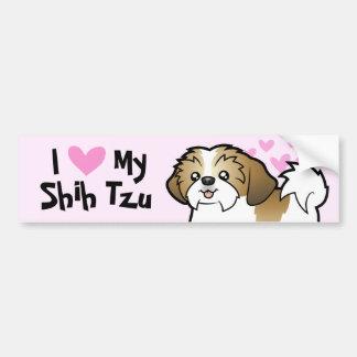 I Liebe mein Shih Tzu Welpe geschnitten Auto Sticker