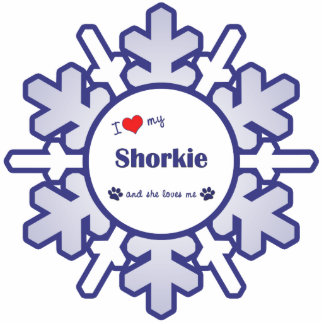 I Liebe mein Shorkie (weiblicher Hund) Photo Statuen
