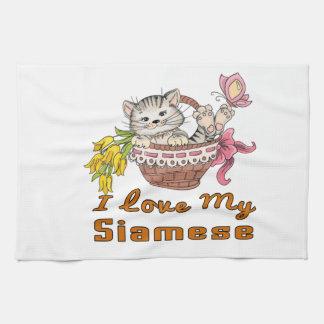 I Liebe mein siamesisches Küchentuch