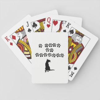 I Liebe mein siamesisches Schwarzes Spielkarten