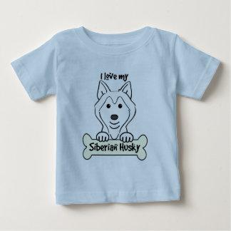 I Liebe mein sibirischer Schlittenhund Baby T-shirt